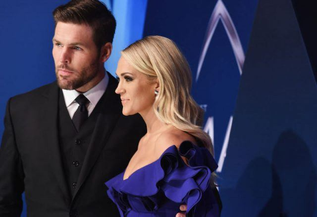 Carrie Underwood with Mike Fisher.