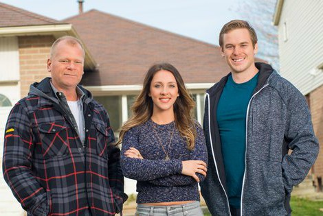 Mike Holmes with his childrens