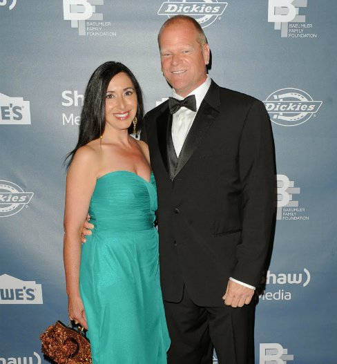 Mike Holmes with his girlfriend, Anna Zappia