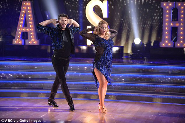 Making all the right steps: With her partner Savchenko on DWTS in September