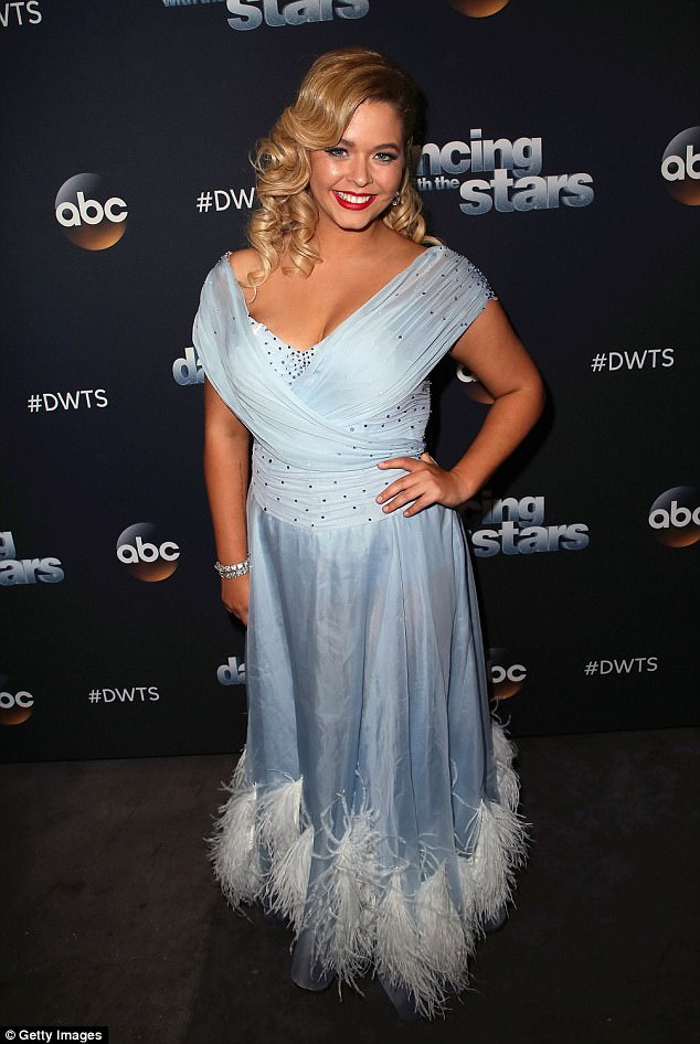 New:The beauty claimed on Monday evening that she is lighter on the scale - she has lost 37lbs in the past few months. Here she is seen in late September