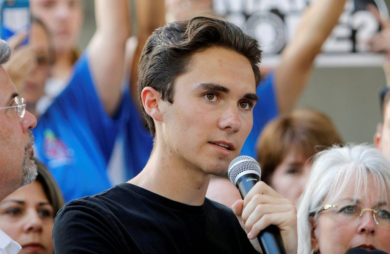 David Hogg, a survivor of the Parkland high school shooting, speaks at the March for Our Lives event last week.