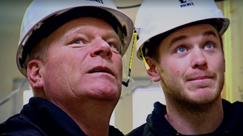 Mike Holmes and son on TV