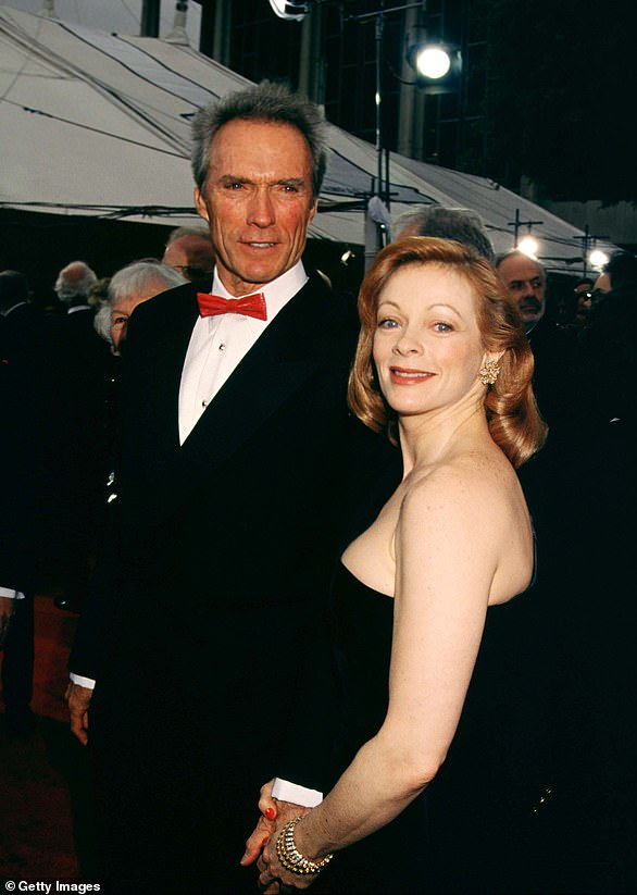 The same year that Eastwood broke things off with Locke and Reeves, he fell for a woman named Frances Fisher (pictured)