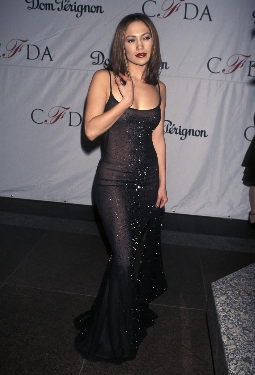 pLopez attended the CFDA Awards back in 1998.p