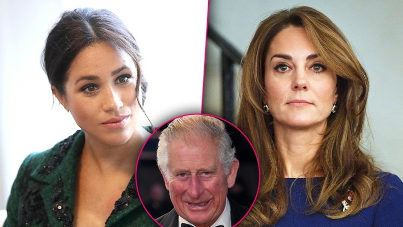 Duchesses Meghan & Kate Fight To Charm Prince Charles