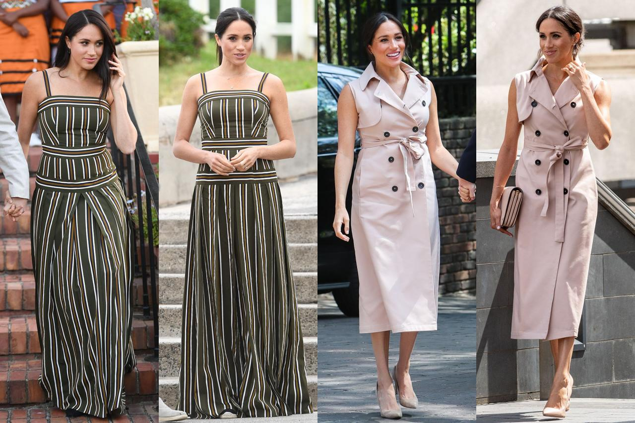 meghan markle fashion rewear recycle outfit