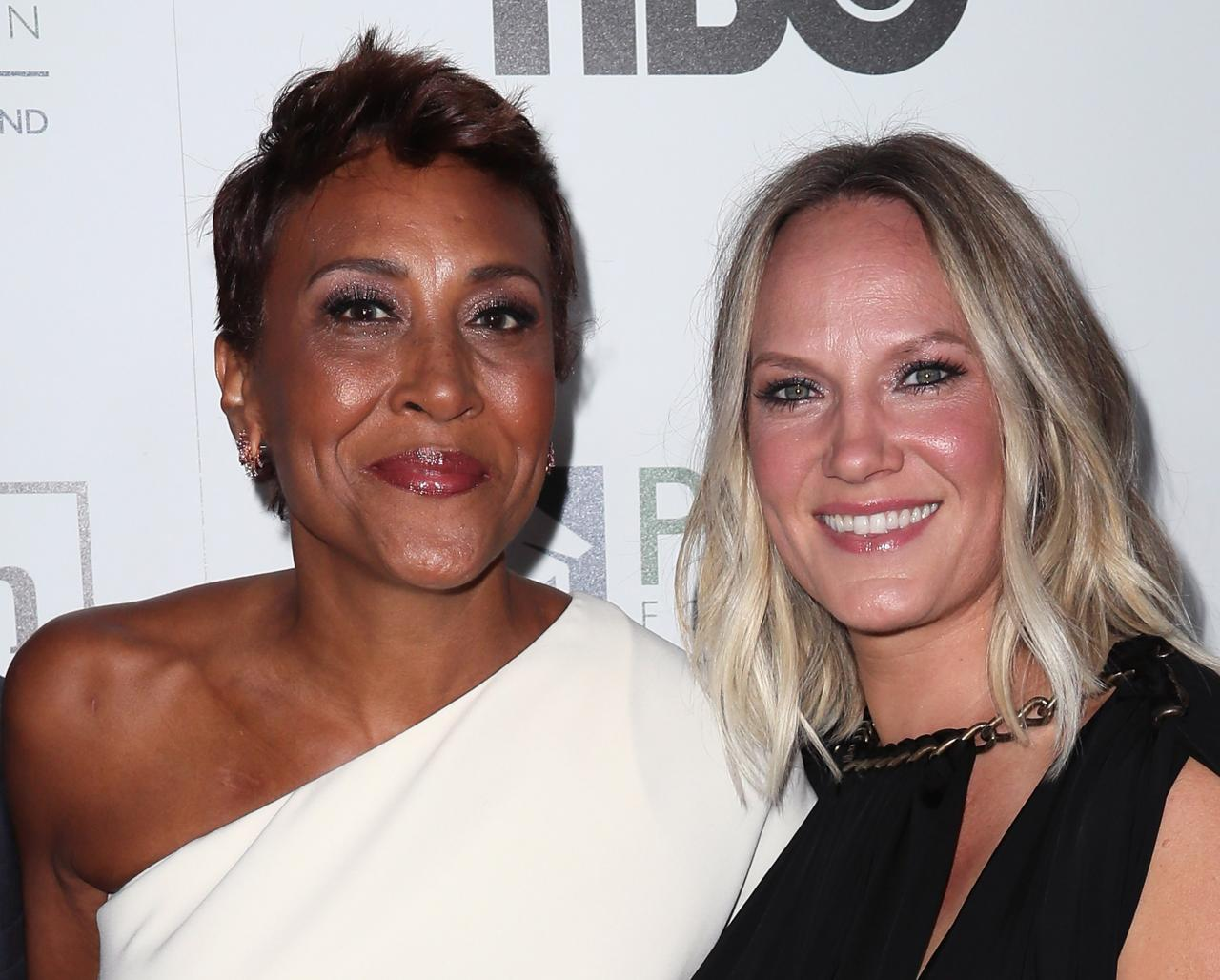Robin Roberts and Amber Laign at the 2016 Point Honors Los Angeles Gala/ Source: Getty Images
