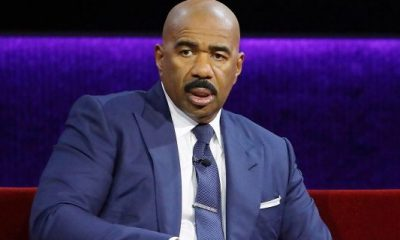 Steve Harvey had to take a moment during a recent episode of 'Celebrity Family Feud.'