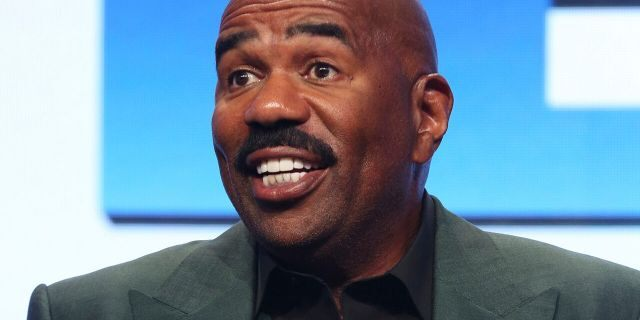 """In this Aug. 3, 2017, file photo, Steve Harvey participates in the """"Steve"""" panel during the NBC Television Critics Association Summer Press Tour in Beverly Hills, Calif."""