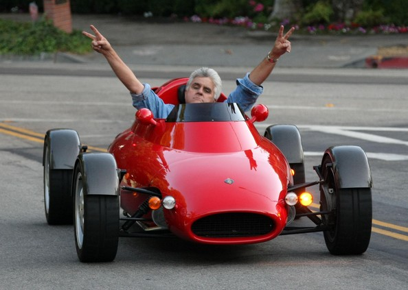 Jay+Leno in Jay Leno Taking His Red Rocket For A Drive