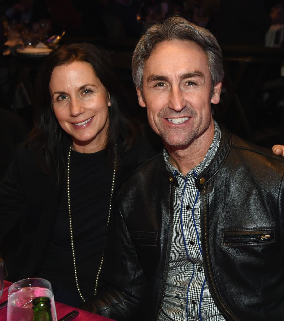 Mike Wolfe With His Wife
