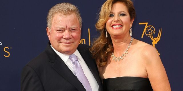 Actor William Shatner and his now ex-wife Elizabeth Shatner attend the 2018 Creative Arts Emmy Awards on Sept. 8, 2018, in Los Angeles, Calif.