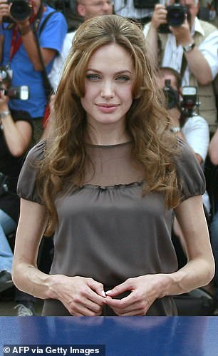 Striking: Jolie is seen here during theCannes Film Festival in May 2007