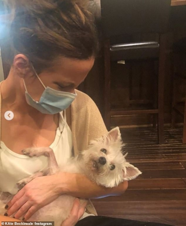 Rest in Peace:Kate Beckinsale has been left 'heartbroken' after revealing on Thursday that her dog Ingrid had died