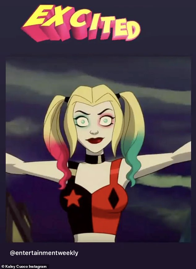 Exciting news: Kaley revealed that her animated show Harley Quinn has been renewed for Season 3 at HBO Max