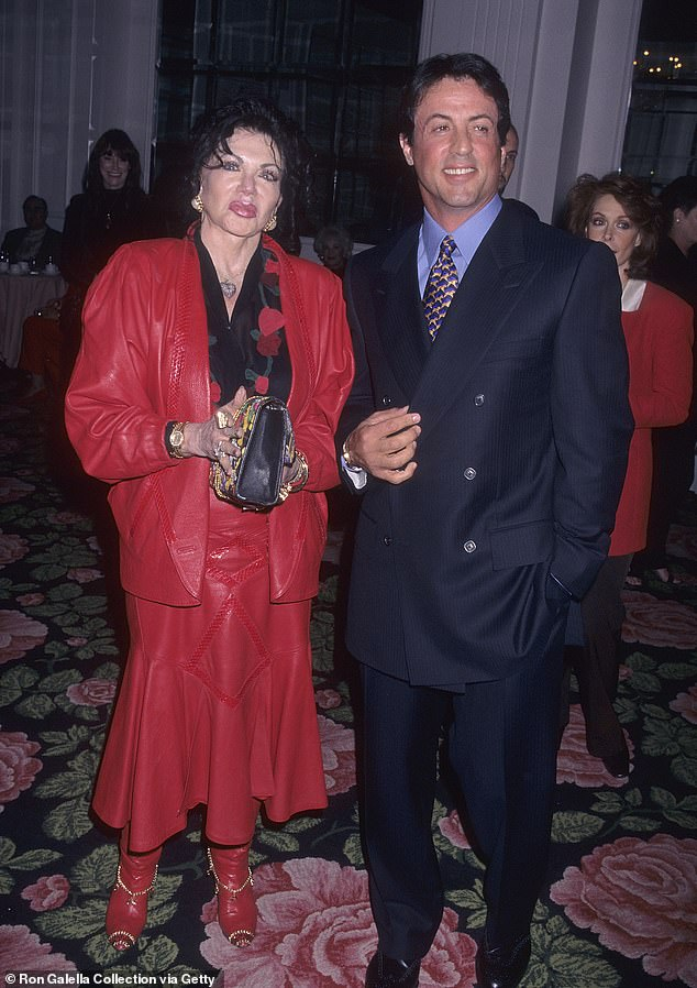 Unknown: RIP: Sylvester Stallone's mother Jackie has passed away at the age of 98; Jackie pictured in 2014. Though the circumstances surrounding the famed astrologer's death remain unknown, sources close to the Stallone family told TMZ that she just 'recently passed away'; Jackie and Sylvester pictured in 1997