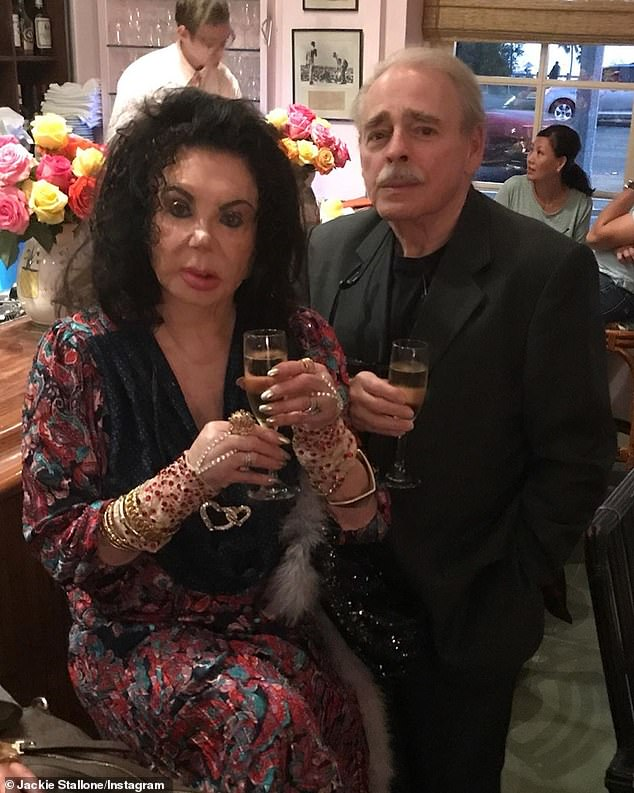 Left behind:Jackie also leaves behind husband of over two-decades Stephen Marcus Levine; Jackie and Stephen pictured in 2019
