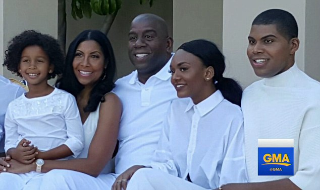 Family: Magic and Cookie Johnson had a son together, EJ, who is now a reality star, and also adopted a daughter, Elisa, in 1995