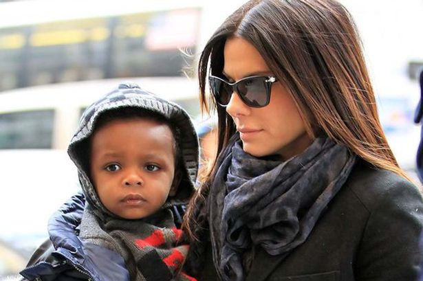 """Sandra Bullock's five-year-old son Louis urged actress to find brother or sister with """"some brown skin"""" - Mirror Online"""