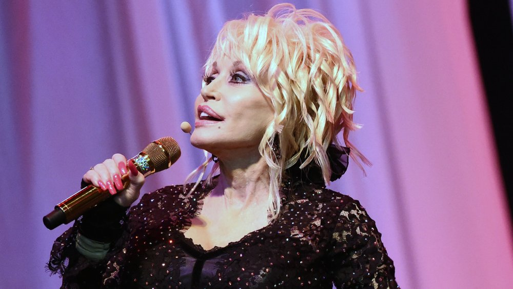 Dolly Parton performing at the Ryman Auditorium in 2015