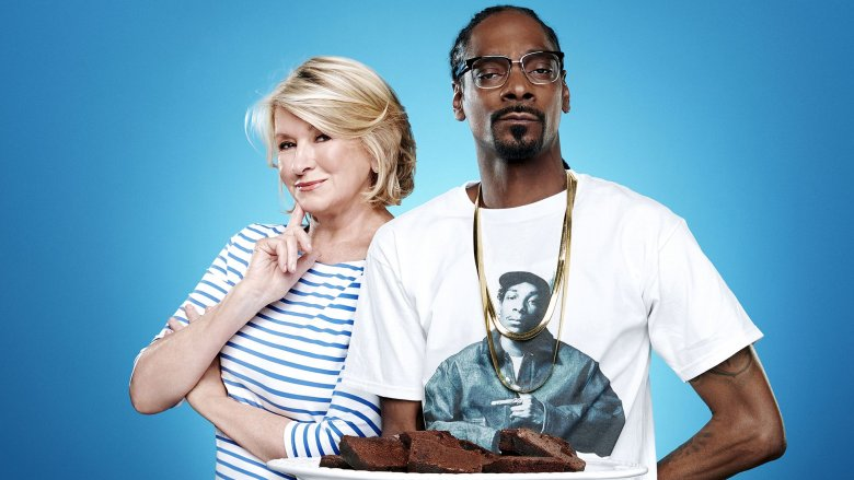 martha and snoop with brownies