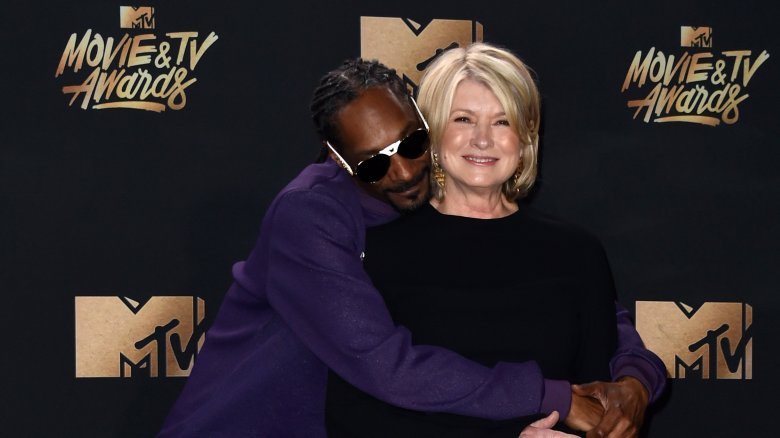 Snoop hugging Martha Stewart