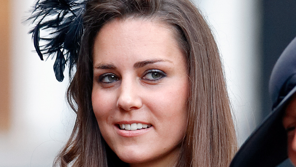 Kate Middleton looking to the side