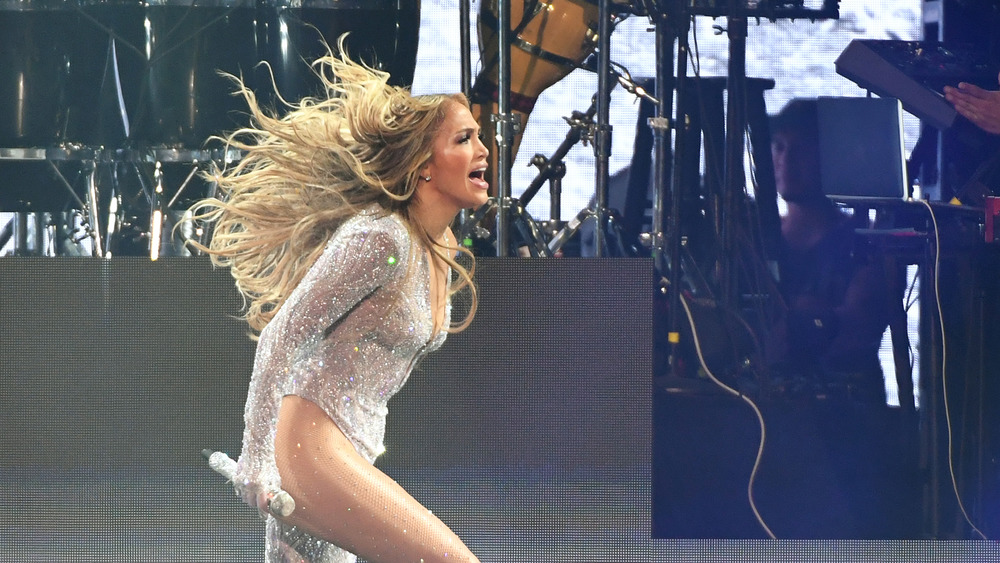 Jennifer Lopez performing during her It's My Party tour