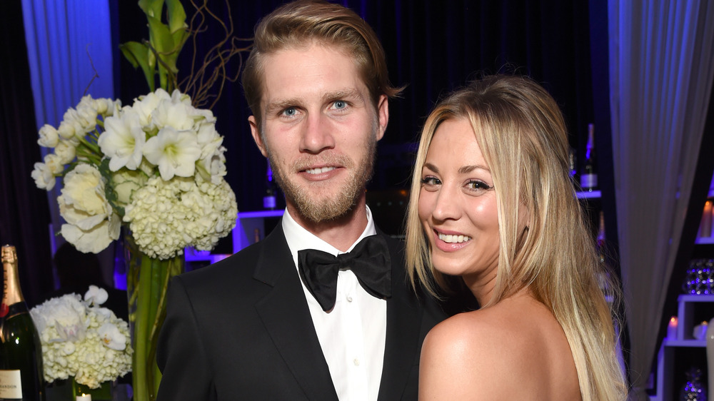 Kaley Cuoco posing with Karl Cook