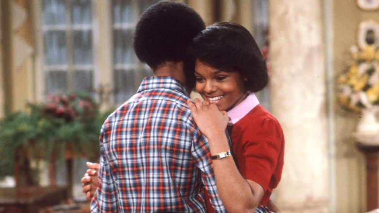 Janet Jackson on the set of Different Strokes
